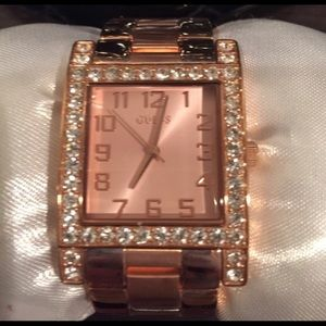 Guess Rose Gold And Stone Watch NEW